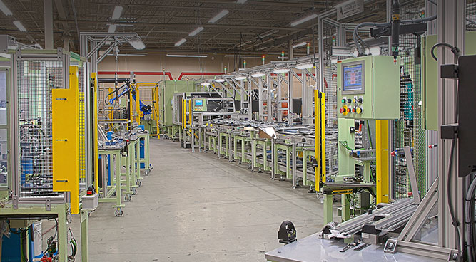 automotive component linear transfer systems